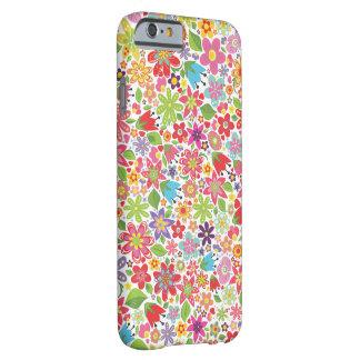 Caso brilhante do teste padrão de flores IPHONE 6 Capa Barely There Para iPhone 6