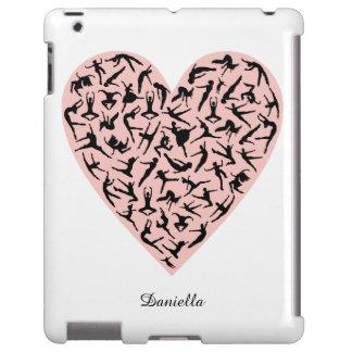 Caso cor-de-rosa bonito do iPad do coração da Capa Para iPad