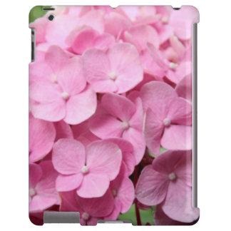 Caso cor-de-rosa do iPad do Hydrangea Capa Para iPad