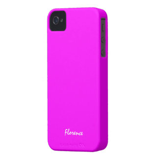 Caso cor-de-rosa do iphone 4 de Florença Capa Para iPhone 4 Case-Mate
