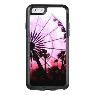 Caso (cor-de-rosa) do iPhone 6/6s Otterbox da roda
