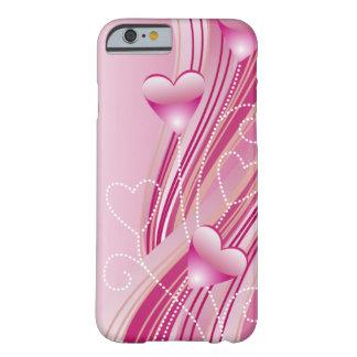 Caso cor-de-rosa do iPhone 6 dos corações Capa iPhone 6 Barely There