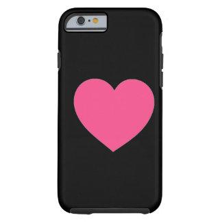 Caso cor-de-rosa liso simples do iPhone 6 do preto Capa Para iPhone 6 Tough
