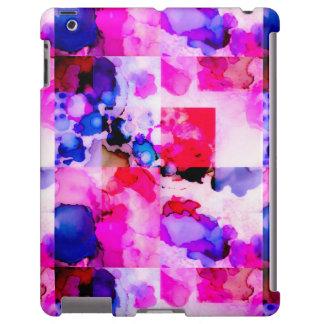 Caso cor-de-rosa manchado de tinta do iPad Capa Para iPad