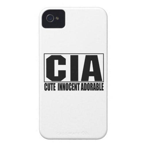 Caso corajoso adorável inocente bonito do CIA Blac Capas iPhone 4
