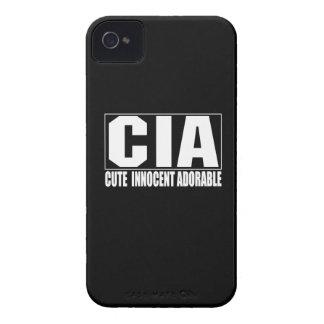 Caso corajoso adorável inocente bonito do CIA Blac iPhone 4 Capa