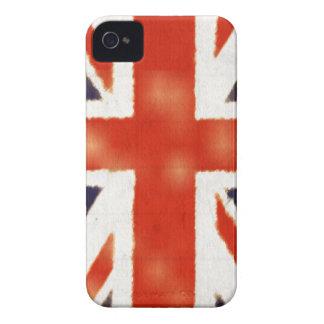 Caso corajoso de Union Jack Blackberry do vintage Capinhas iPhone 4
