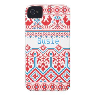 caso corajoso do cobrir da amora-preta do Natal do Capinha iPhone 4