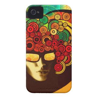 caso corajoso do cobrir da amora-preta psicadélico capinhas iPhone 4