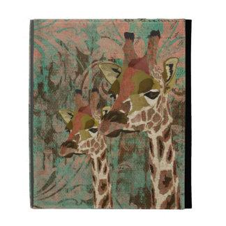 Caso de Caseable do damasco dos girafas de Rosa
