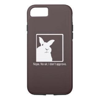 Caso de desaprovação Brown do iPhone 7 dos coelhos Capa iPhone 8/7