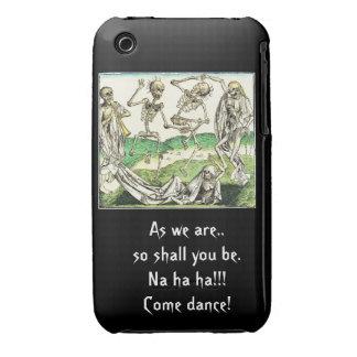 Caso de esqueleto do ipad da dança capa para iPhone 3