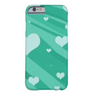 Caso de flutuação do iPhone 6 dos corações Capa Barely There Para iPhone 6