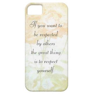 Caso de Iphone 5 do respeito você mesmo (citações Capa Barely There Para iPhone 5