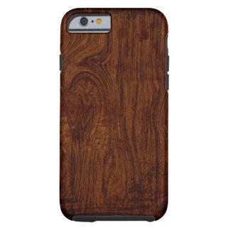 Caso de madeira do iPhone 6 da grão Capa Tough Para iPhone 6