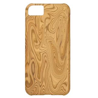Caso de madeira legal do iPhone 5 do olhar Capa Para iPhone 5C