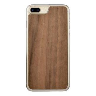 caso de madeira positivo do iPhone 7 Capa iPhone 8 Plus/ 7 Plus Carved