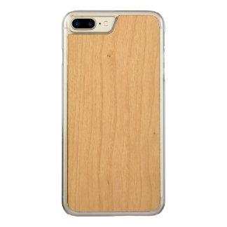 caso de madeira positivo do iPhone 7 Capa Para iPhone 8 Plus/ 7 Plus Carved