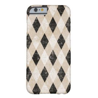 Caso diagonal do iPhone 6 do Grunge de Argyle do Capa Barely There Para iPhone 6