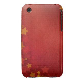 Caso do blackberry curve do design das estrelas do capa para iPhone 3