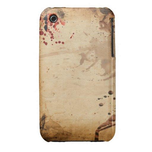 Caso do blackberry curve do design do Grunge do vi iPhone 3 Capas