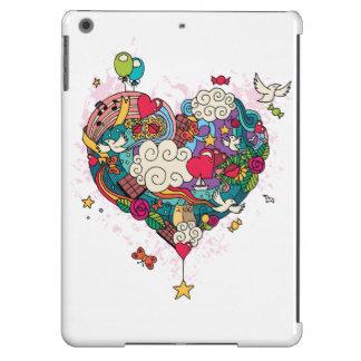 caso do Doodle do amor do iPad Capa Para iPad Air