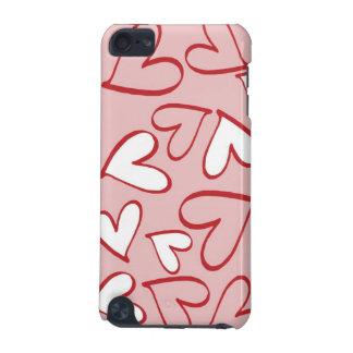 Caso do Gen do ipod touch cor-de-rosa e branco dos Capa Para iPod Touch 5G