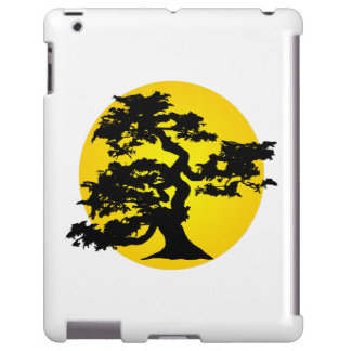 Caso do iPad de Sun da silhueta dos bonsais Capa Para iPad