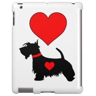 Caso do iPad do cão do Scottie do amor Capa Para iPad