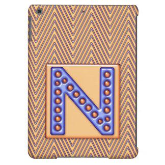 Caso do iPad do monograma de N Capa Para iPad Air