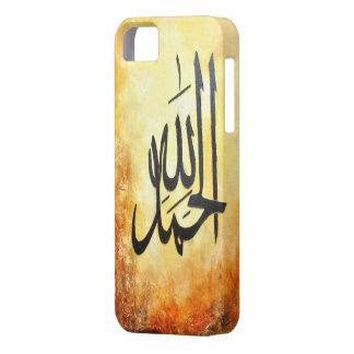 Caso do iPhone 5 de Alhamdulillah! Arte islâmica Capa Barely There Para iPhone 5