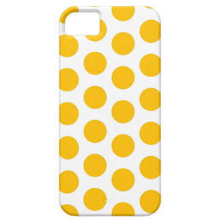 Caso do iPhone 5 do amarelo do ponto de Polki Capa Barely There Para iPhone 5