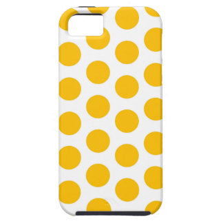Caso do iPhone 5 do amarelo do ponto de Polki Capa Tough Para iPhone 5