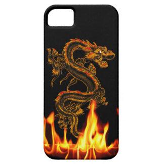 Caso do iPhone 5 do dragão do fogo da fantasia Capa Barely There Para iPhone 5