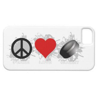 Caso do iPhone 5 do emblema do hóquei do amor da Capa Para iPhone 5