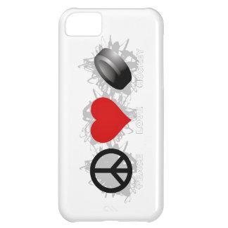 Caso do iPhone 5 do emblema do hóquei do amor da Capa Para iPhone 5C