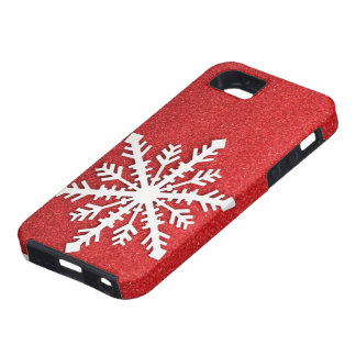 Caso do iphone 5 do floco de neve do feriado capa para iPhone 5
