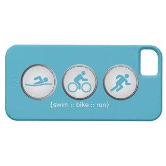 Caso do iPhone 5 do Natação-Bicicleta-Run do Capa Barely There Para iPhone 5