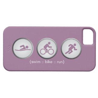 Caso do iPhone 5 do Natação-Bicicleta-Run do Capa Para iPhone 5