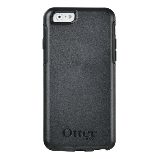 Custom OtterBox iPhone 6/6s Série Symmetry Case, Preto