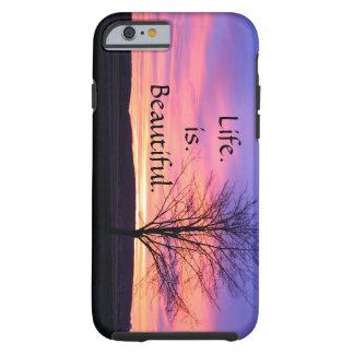 caso do iPhone 6 com a vida que diz citações Capa Tough Para iPhone 6