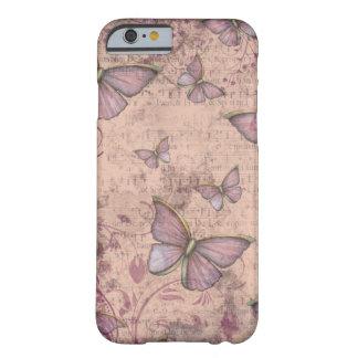 Caso do iPhone 6 das borboletas do Grunge do Capa Barely There Para iPhone 6