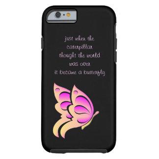Caso do iPhone 6 das citações da borboleta Capa Tough Para iPhone 6