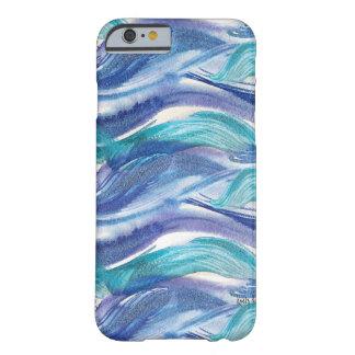 Caso do iPhone 6 das ondas de oceano da aguarela Capa Barely There Para iPhone 6