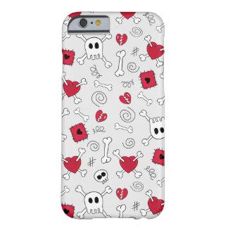 Caso do iPhone 6 dos Doodles dos crânios e dos Capa iPhone 6 Barely There