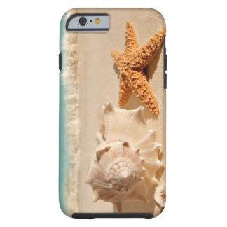 Caso do iPhone 6 dos seashells da praia do verão Capa Tough Para iPhone 6
