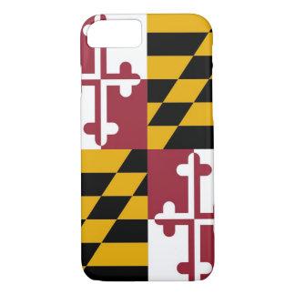 caso do iPhone 7 com a bandeira de Maryland Capa iPhone 7