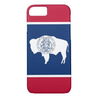 caso do iPhone 7 com a bandeira de Wyoming Capa iPhone 7