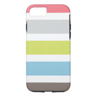 caso do iPhone 7 com listras coloridas Capa iPhone 7