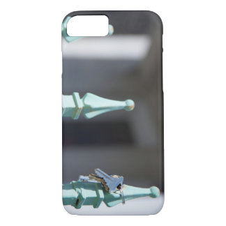 Caso do iPhone 7 da porta e das chaves Capa iPhone 7